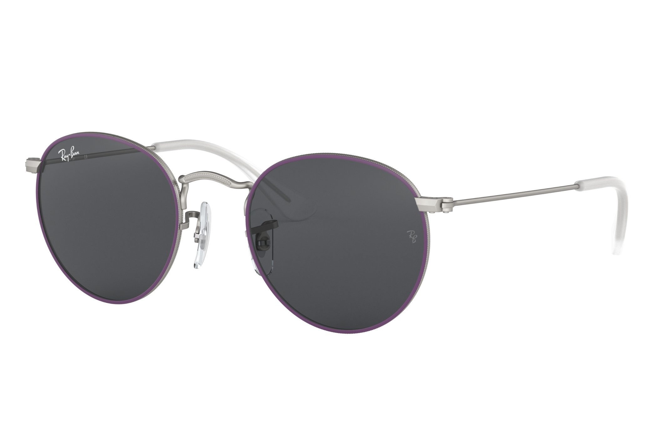 Ray-Ban Round Metal Junior Violet, Grey Lenses - RJ9547S