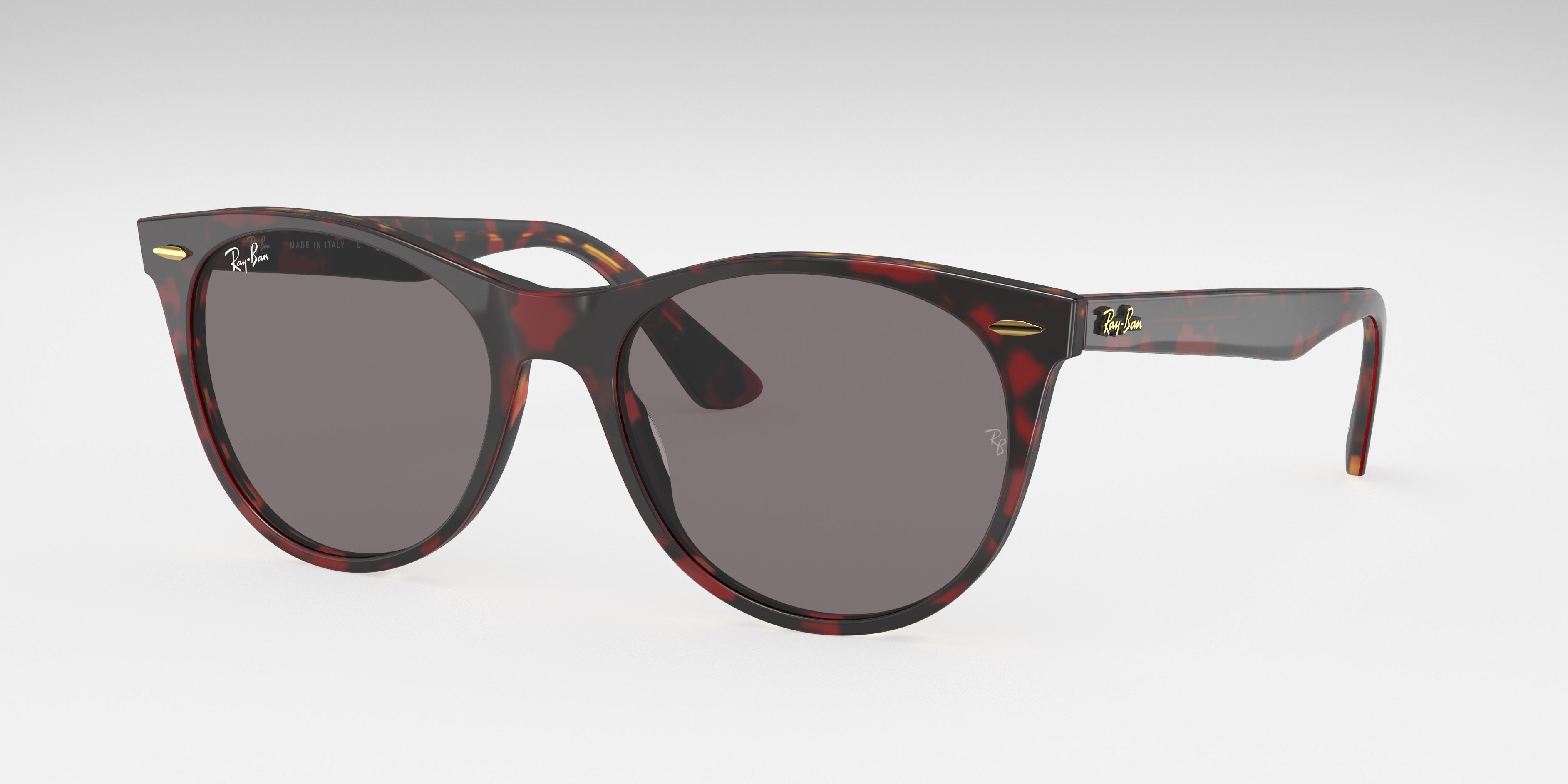 Ray-Ban Wayfarer II @collection Transparent Red, Grey Lenses - RB2185