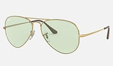 Ray-Ban RB3689 001/T1 58-14 AVIATOR METAL II EVOLVE ゴールド 新作サングラス