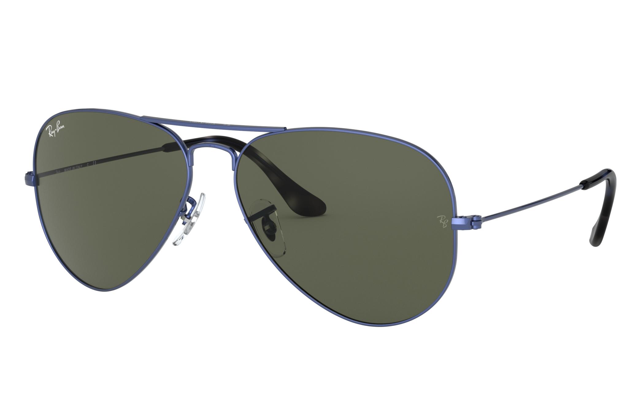 Ray-Ban Aviator Classic Blue Metal, Green Lenses - RB3025