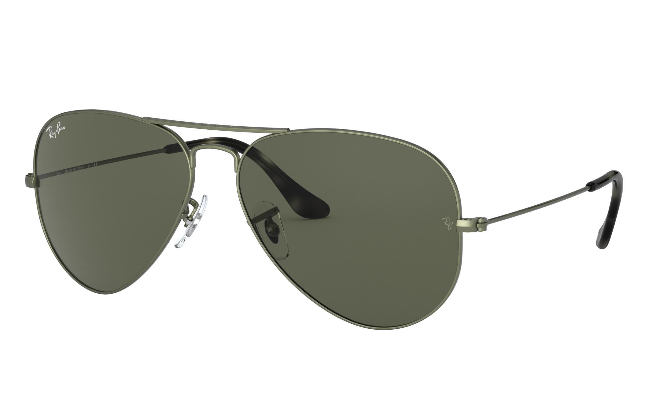 Ray-Ban Aviator Classic Green Metal, Green Lenses - RB3025