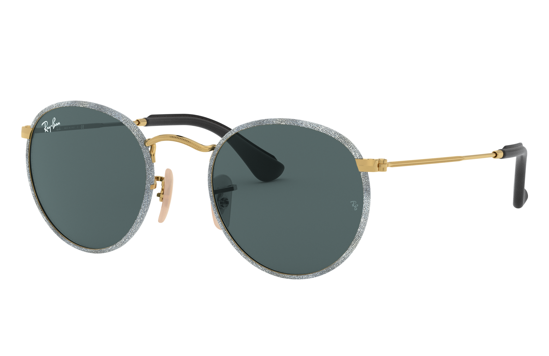 Ray-Ban Round Craft Gold, Blue Lenses - RB3475Q