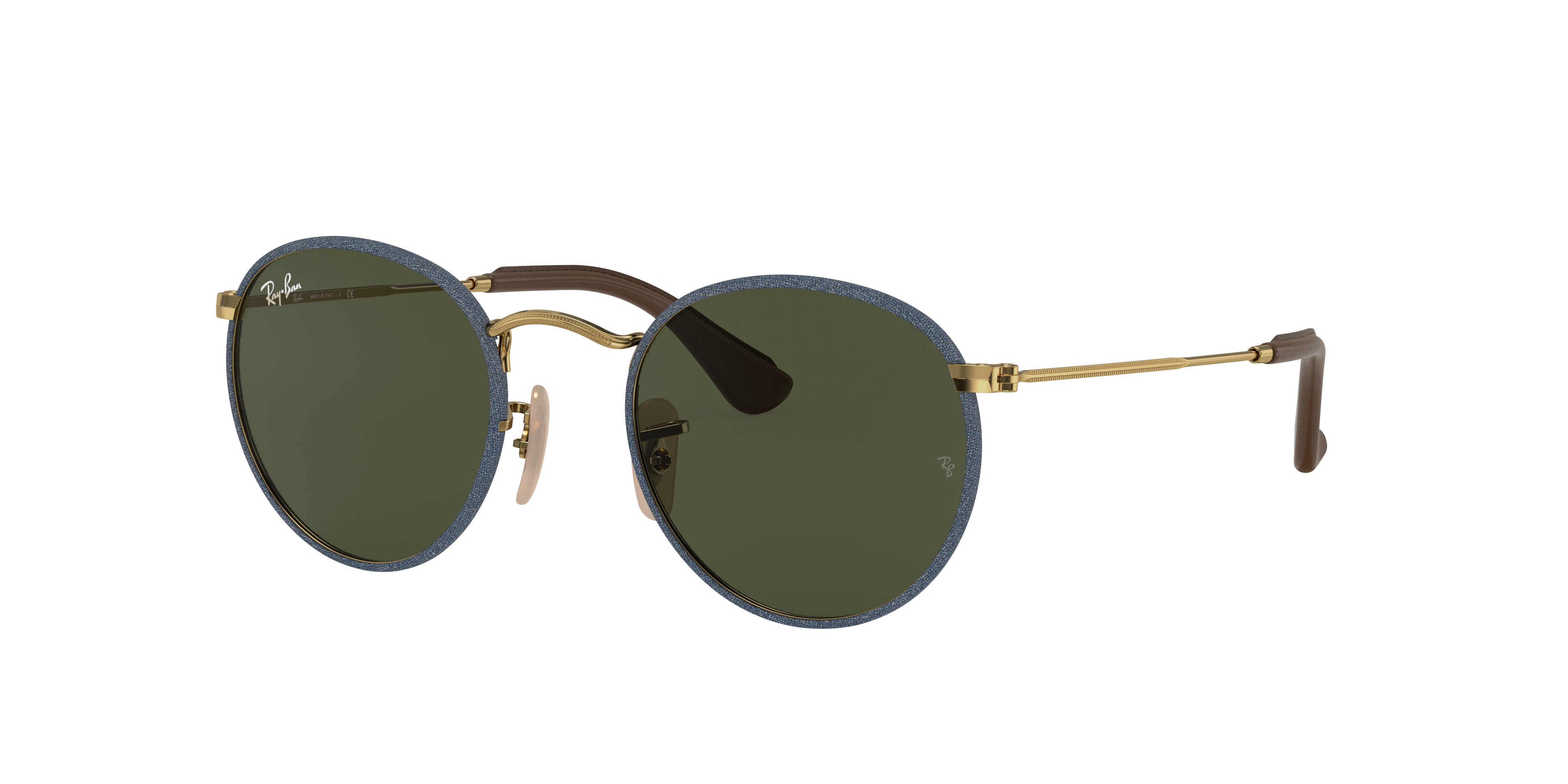 Ray-Ban Round Craft Gold, Green Lenses - RB3475Q