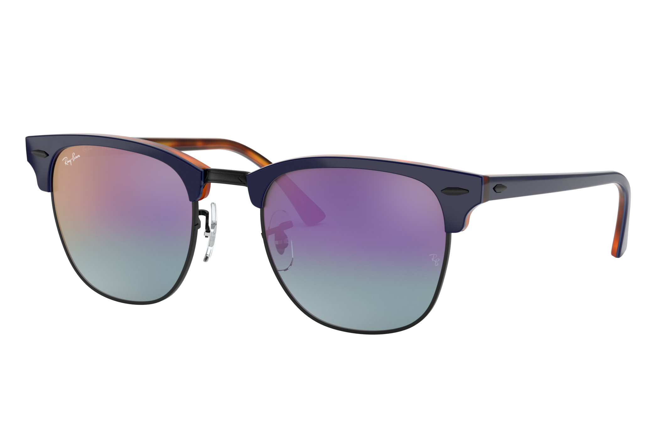 Ray-Ban Clubmaster Color Mix Blue, Blue Lenses - RB3016