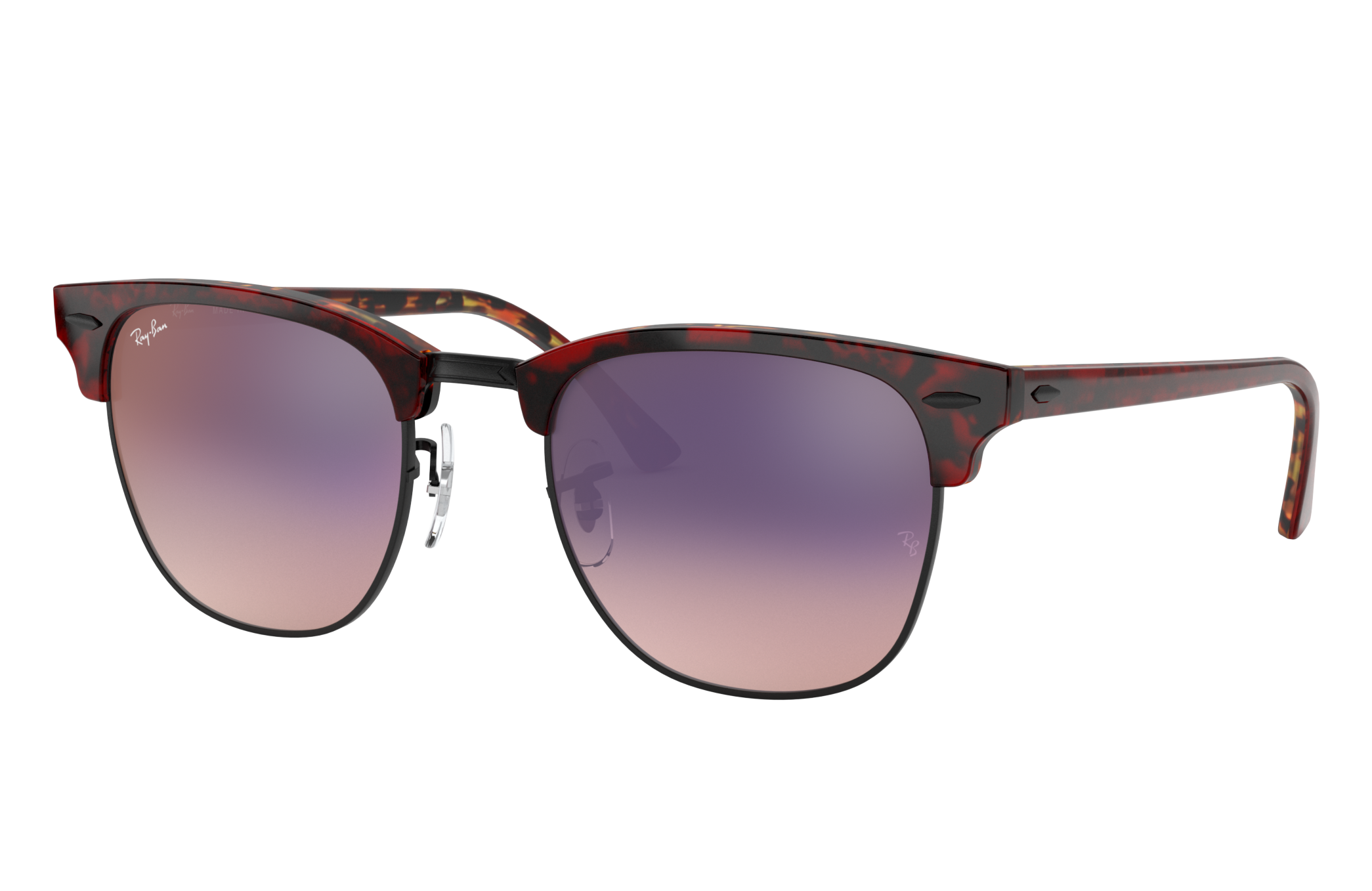 Ray-Ban Clubmaster Color Mix Red Havana, Violet Lenses - RB3016