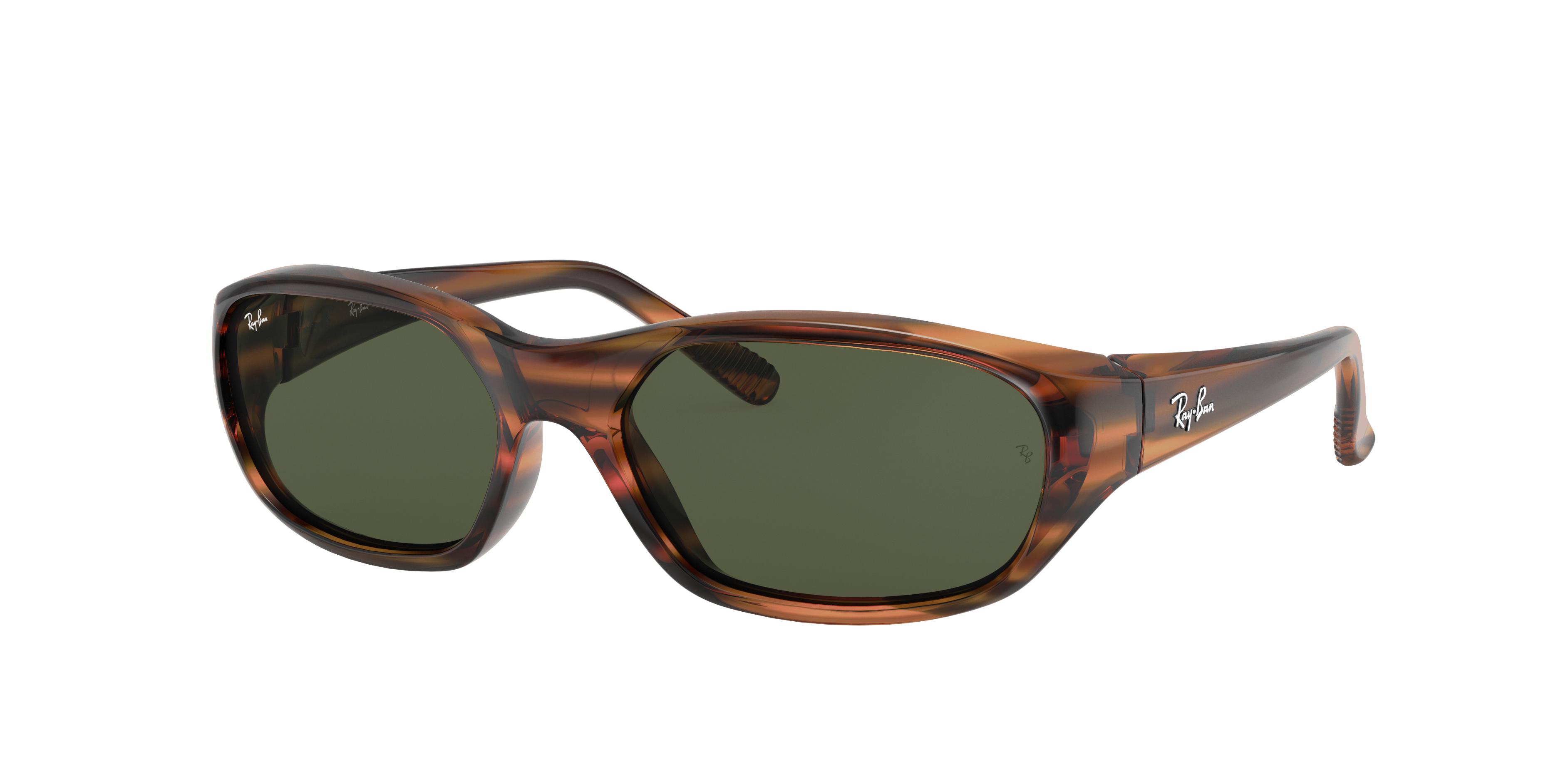 Ray-Ban Daddy-o II Striped Red Havana, Green Lenses - RB2016