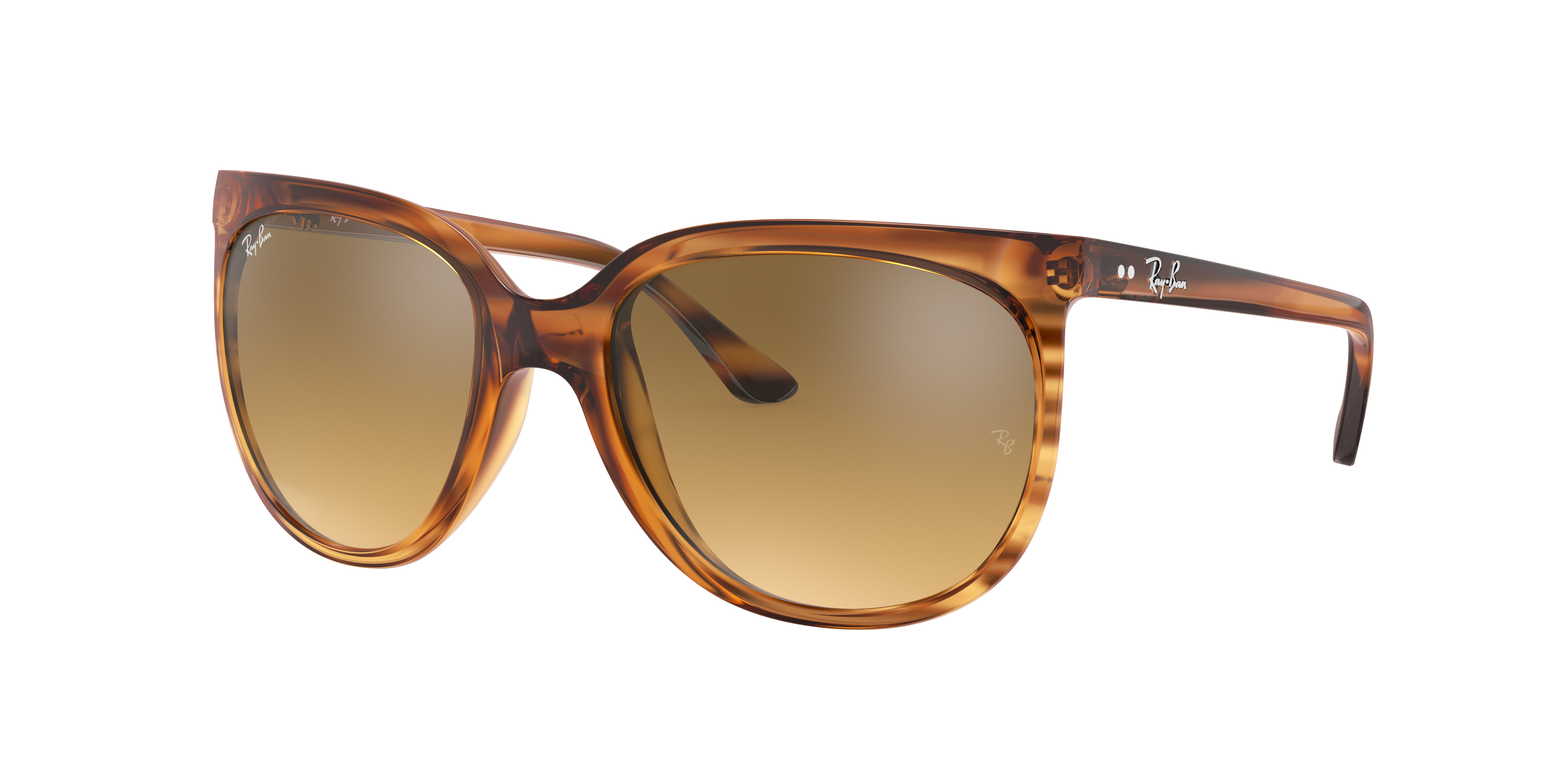 Ray-Ban Cats 1000 Striped Brown, Brown Lenses - RB4126