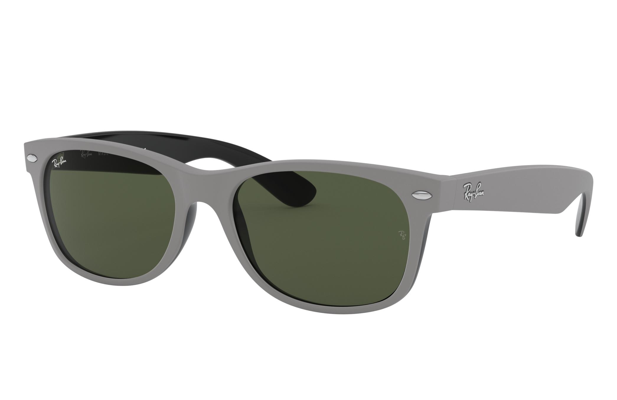 Ray-Ban New Wayfarer Color Mix Grey, Green Lenses - RB2132