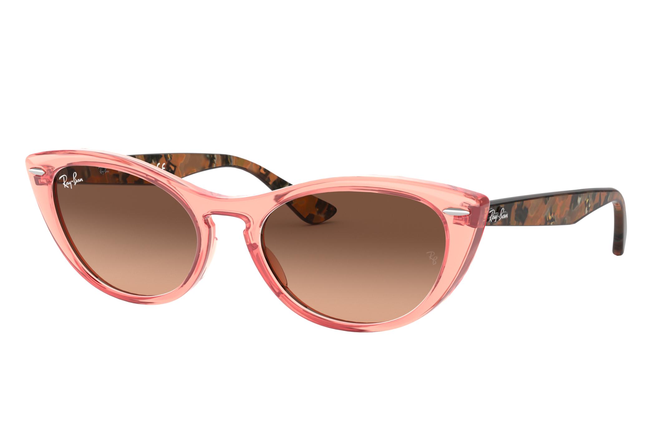 Ray-Ban Nina Brown Havana, Pink Lenses - RB4314N
