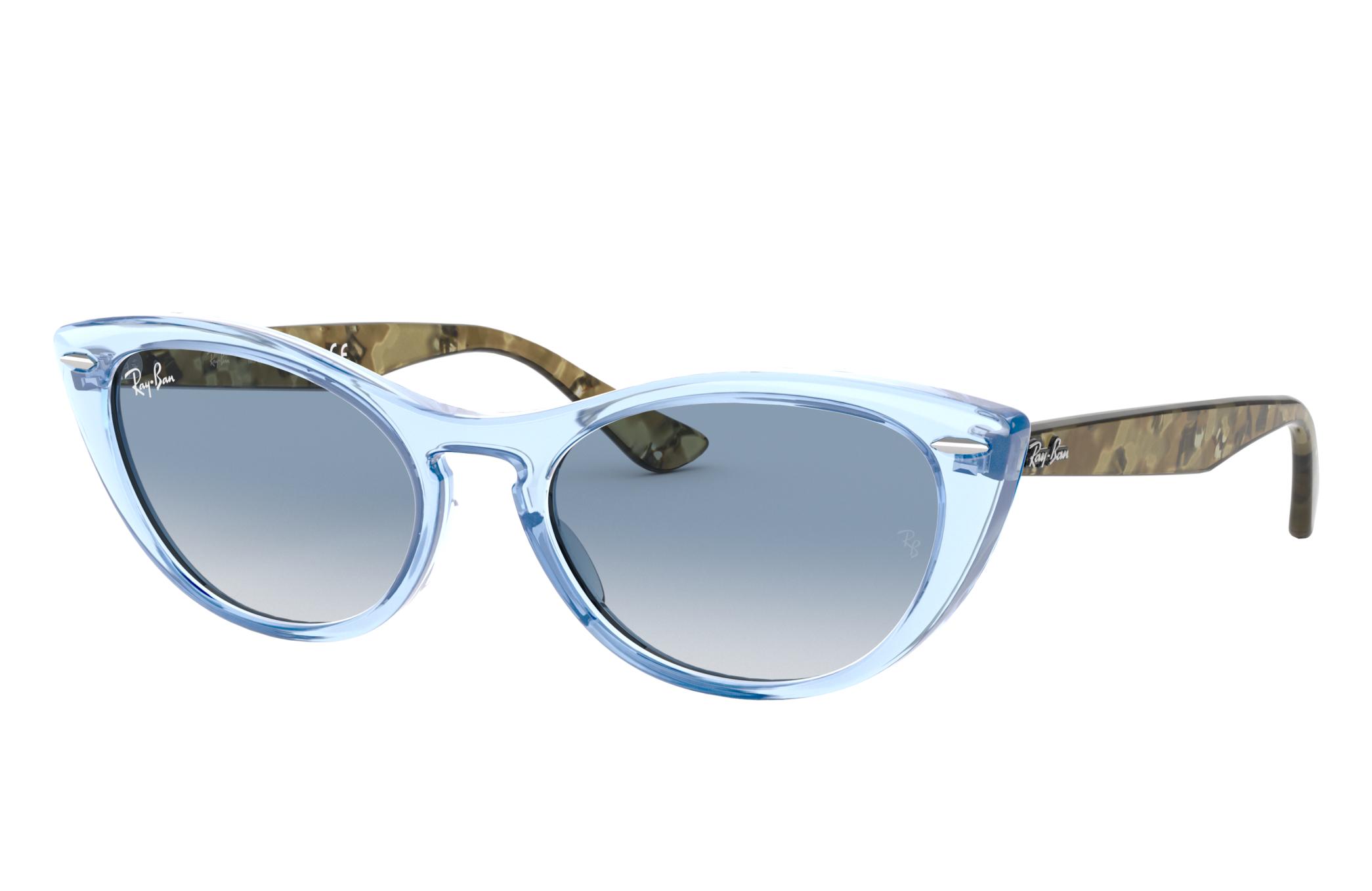 Ray-Ban Nina Green Havana, Blue Lenses - RB4314N