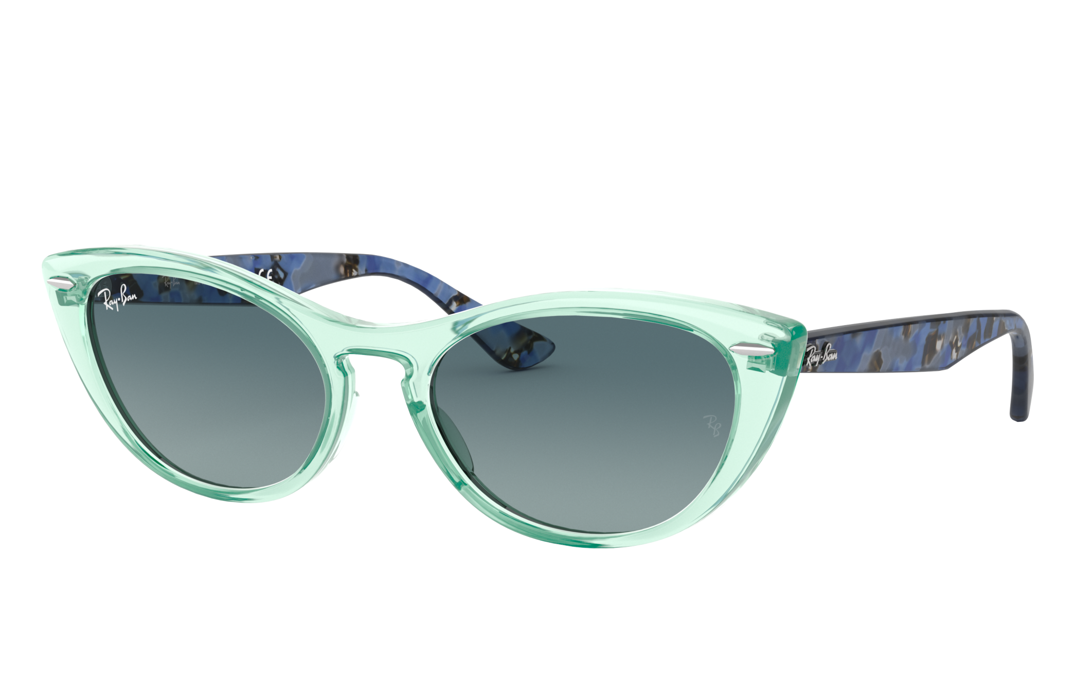 Ray-Ban Nina Blue Havana, Blue Lenses - RB4314N