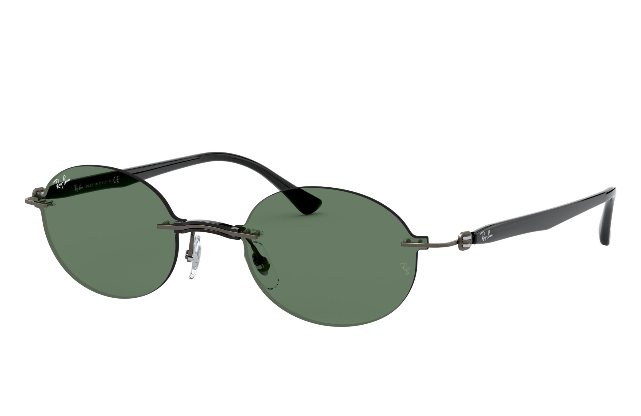 Ray-Ban Rb8060 Gunmetal, Green Lenses - RB8060