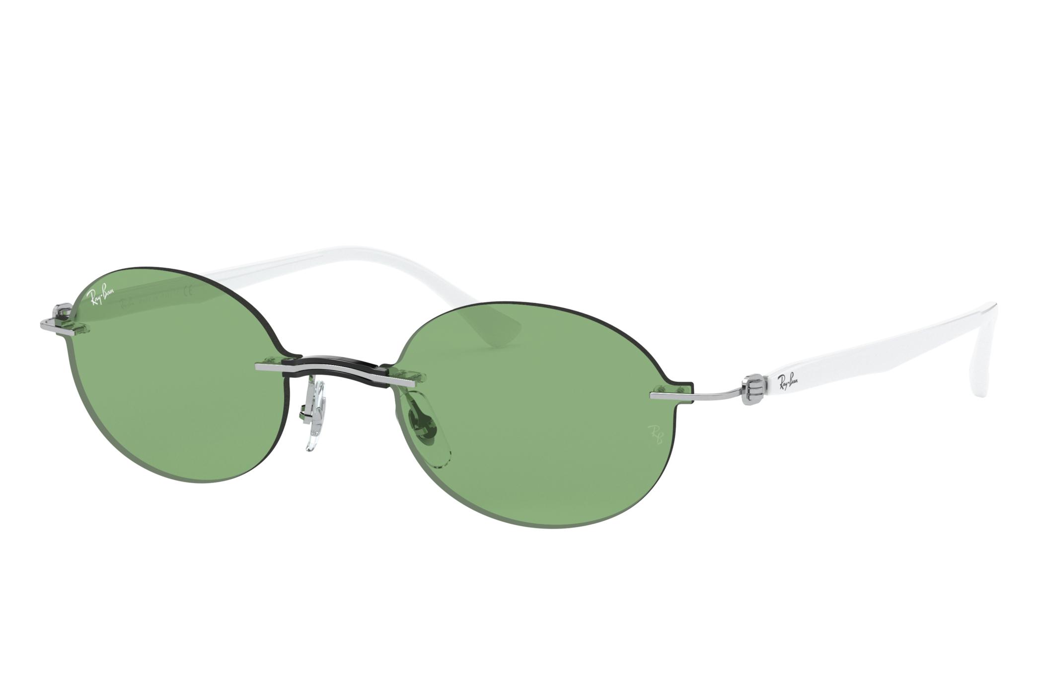 Ray-Ban Rb8060 White, Green Lenses - RB8060