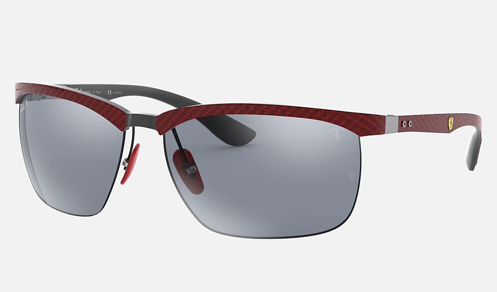 Ray Ban Rb8324m Scuderia Ferrari Collection Rb8324m Red Carbon Fiber Blue Polarized Lenses 0rb8324mf0539y64 Ray Ban Norway