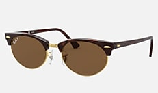 Ray-Ban RB3946 130457 52-20 CLUBMASTER OVAL LEGEND GOLD タートイズ 新作サングラス