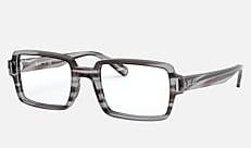 Ray-Ban RX5473 8055 52-20 BENJI ストライプグレー 新作メガネ
