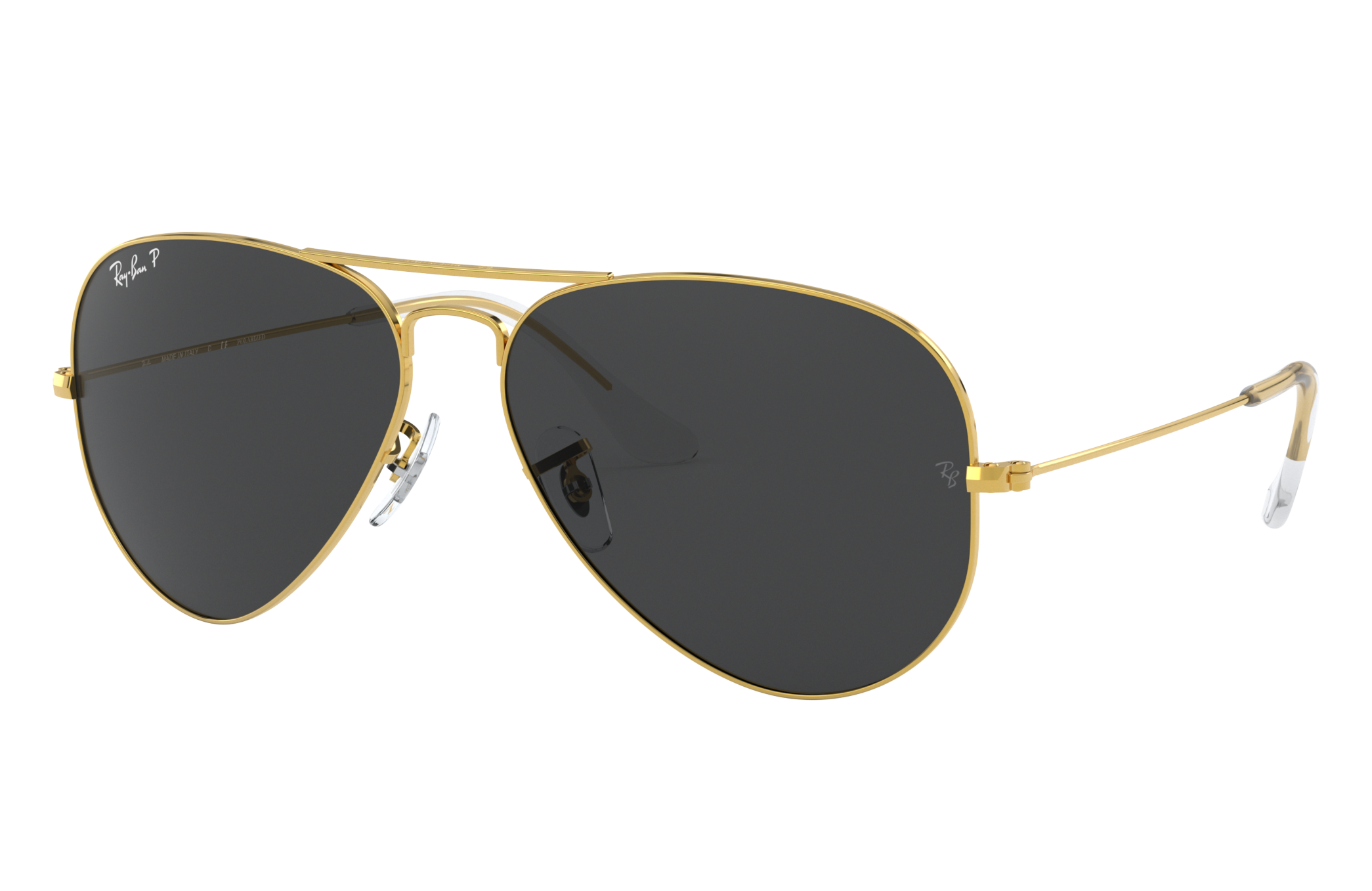 Ray Ban Aviator Classic Gold, Polarized Black Lenses RB3025