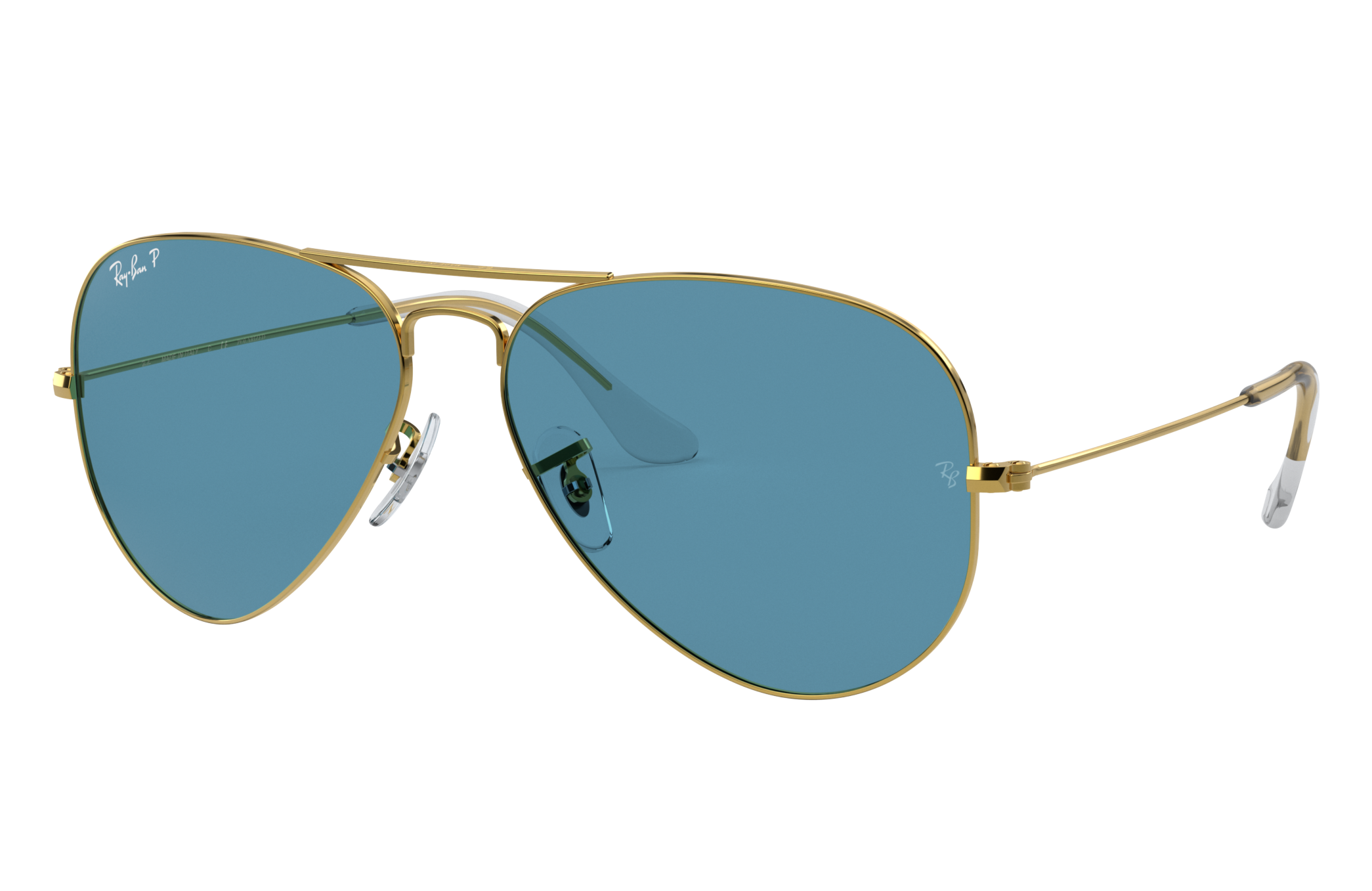 Ray Ban Aviator Classic Gold, Polarized Blue Lenses RB3025