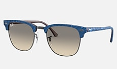 Ray-Ban RB3016F 131032 55-26 CLUBMASTER MARBLE(JPフィット) ブルー 新作サングラス