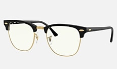 Ray-Ban RB3016 901/BF 51-21 CLUBMASTER CLEAR シャイニーブラック クリアレンズコレクション