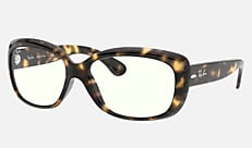 Ray-Ban RB4101 710/BF 58-17 JACKIE OHH CLEAR シャイニーハバナ クリアレンズコレクション