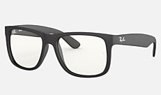 Ray-Ban RB4165F 622/5X 54-17 JUSTIN CLEAR(JPフィット) ラバーブラック クリアレンズコレクション